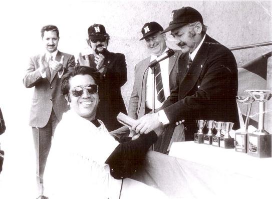 Lluis Escoda i Carlos Pérez de Rozas acompanyats de Isidoro García i Sergio Bandé