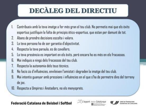 Decàleg del directiu